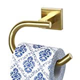 Sayayo Toilet Paper Roll Holder Wall Mounted, Stainless Steel Brushed Golden Finished, EGK8012-G