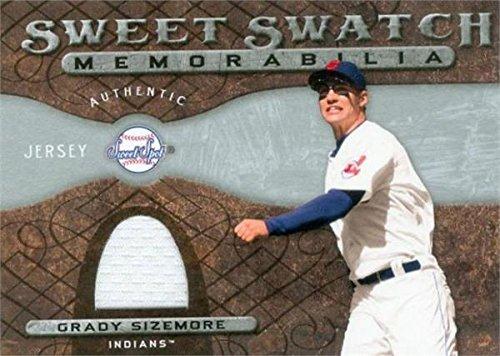 Grady Sizemore player worn jersey patch baseball card (Cleveland Indians) 2009 Upper Deck Sweet Spot Swatch #SSGS