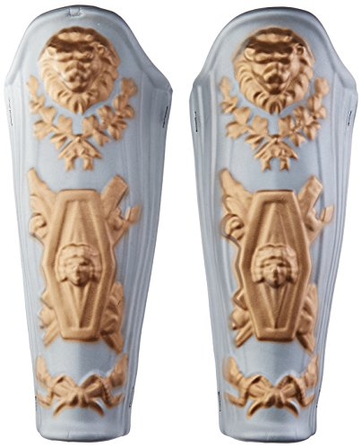[Jacobson Hat Company Men's Eva Leg Guards, Silver/Gold, Adult] (Ancient Roman Soldier Costume)