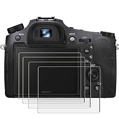 PCTC Tempered Glass Screen Protector Skin Film Compatible for Sony rx 10 Mark III rx 10 iv DSC-RX10M3 rx100 rx100 iv rx100 iii a7R III a7rii Anti-scrach High Transparency Crystal-Clear (4 Pack)