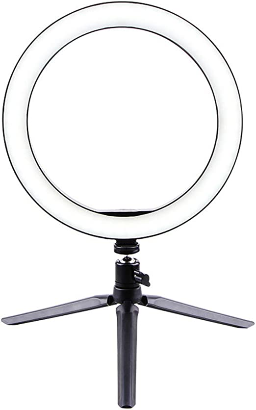 Tenrry LED Ring Light Tripod Camera Photography Dimmable Selfie Video Light with Phone Holder