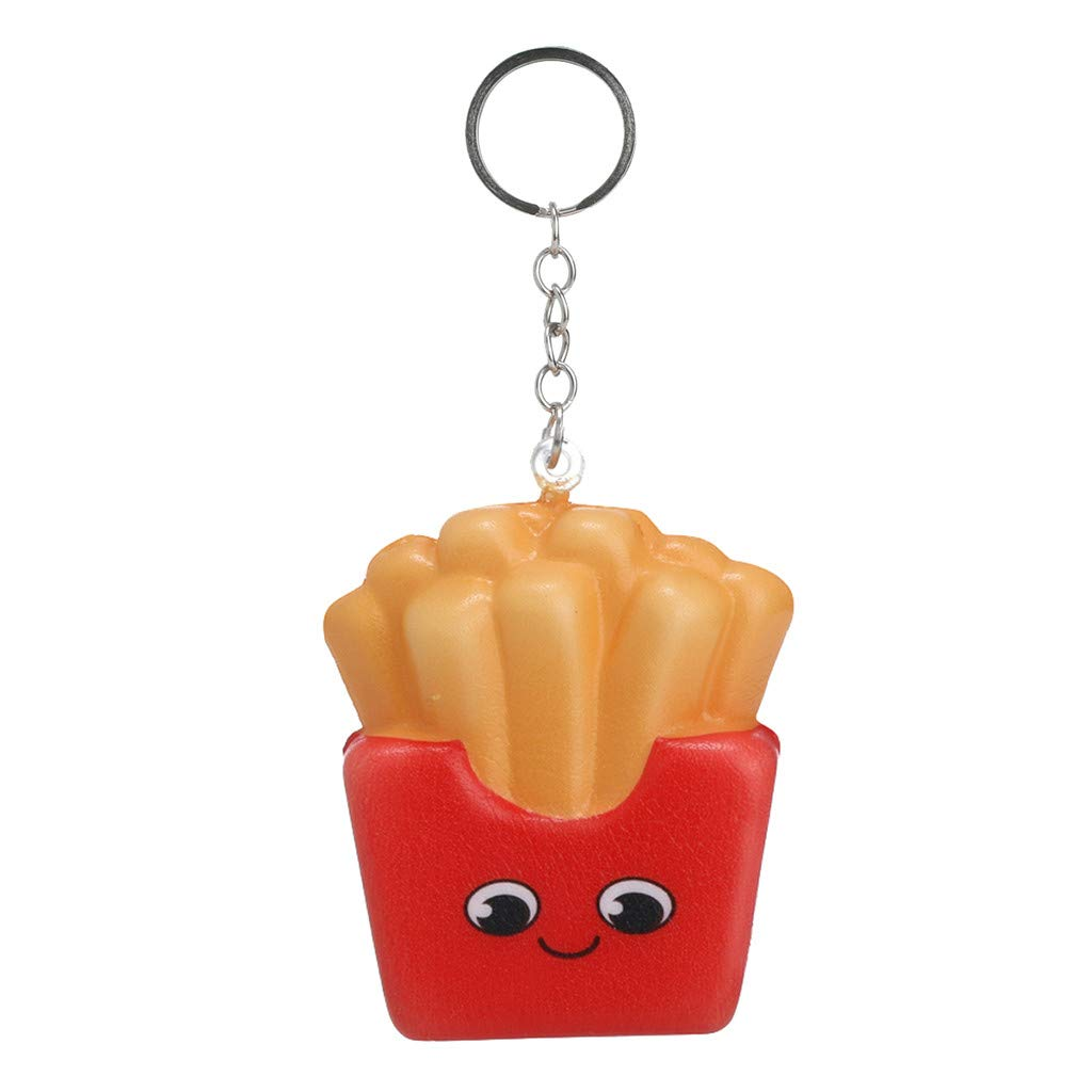 Joykith-Squeezable Toy Kawaii Cartoon Chips Slow Rising Cream Scented Keychain Squishies Toy Stress Relief Kids Gift Party Fun