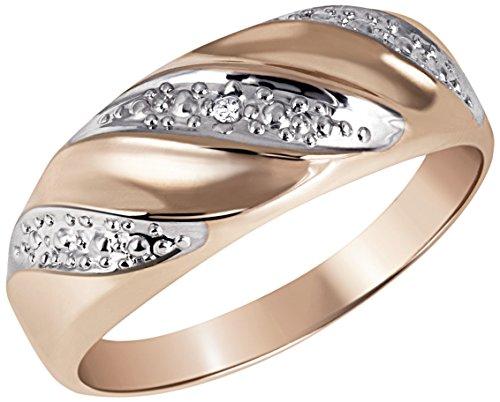 Goldmaid - Pr R800RG - Bague Femme - Or 9 Cts 375/1000 1.55 Gr - Diamant