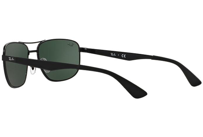 Amazon.com: Ray-Ban Metal anteojos de sol en mate negro ...