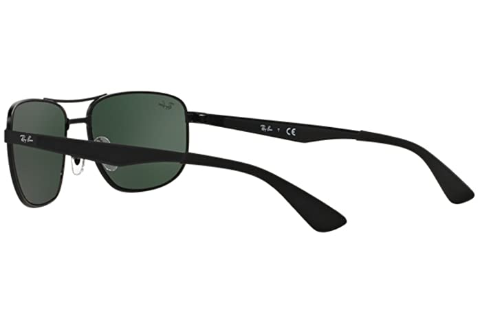 d0b4471f08 Amazon.com  Ray-Ban 3528 006 71 Matte Black 3528 Square Aviator Sunglasses  Lens Category 3  Clothing