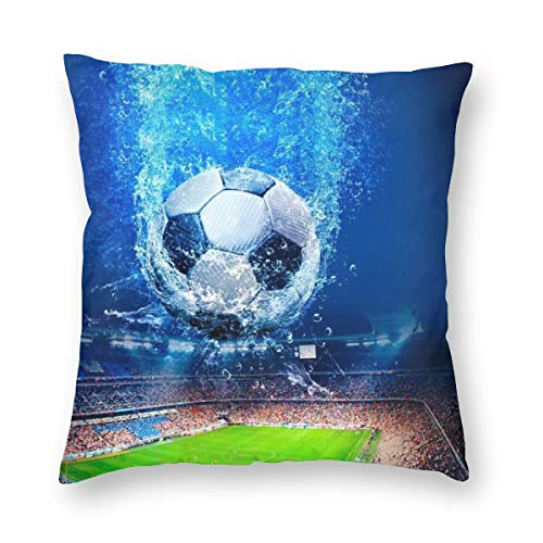Soccer in Motion Square Pillowcase 12