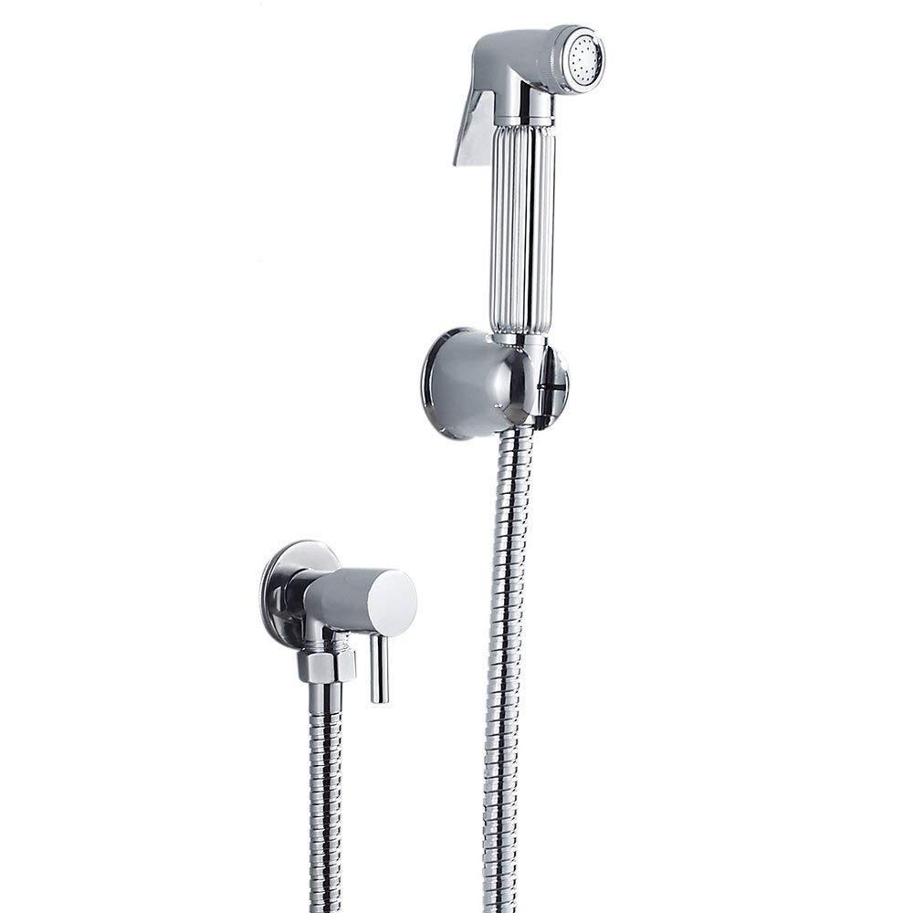 Bidet Sprayer Bathroom Shattaf Douche Handheld Toilet Cleaning Shower Head Valve Set Chrome Littleduckling
