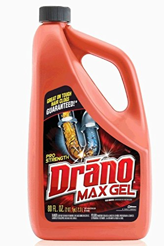 Drano Max Gel, Clog Remover, 80-Ounce by Drano