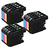 3 Set of 4 Inkfirst Ink Cartridges LC203XLBK LC203XLC LC203XLM LC203XLY Compatible Remanufactured for Brother LC203XL Black Cyan Magenta Yellow MFC-J4320DW MFC-J4420DW MFC-J460DW MFC-J4620DW MFC-J480DW MFC-J485DW MFC-J5520DW MFC-J5620DW MFC-J5720DW MFC-J680DW MFC-J880DW MFC-J885DW