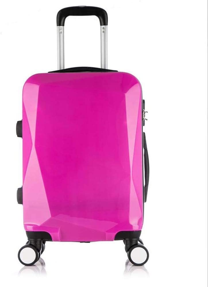 AQWWHY 20inch //24inch Luggage Suitcase Trolley Case Hard Shell 4 Wheel Spinner Holiday Travel Diamond Shape Business Trip Scratch-Resistant Zipper Suitcase Boarding