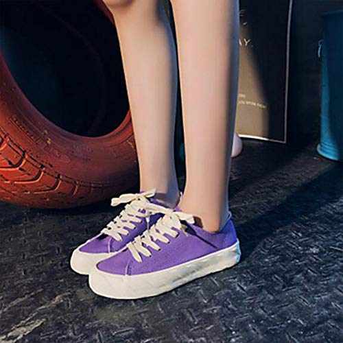 Tonda Piatto Estate Comoda Purple Primavera TTSHOES Corda Donna CN36 Viola US6 Di Per Scarpe Rosa UK4 Footing Sneakers Punta EU36 Blu vqwxwg07YW