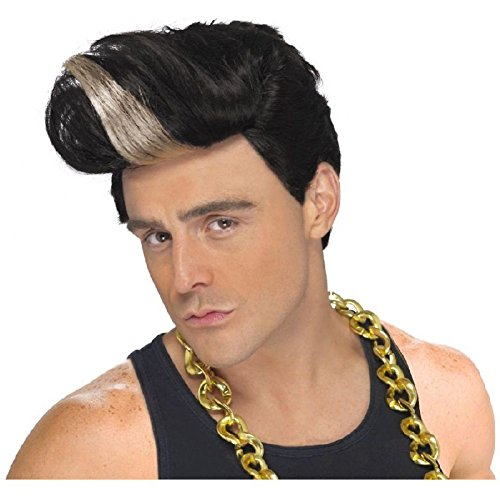 [80s Rapper Wig Funny Adult Mens Costume Accessory Fancy Dress] (Collector Edition Stormtrooper Kids Costumes)