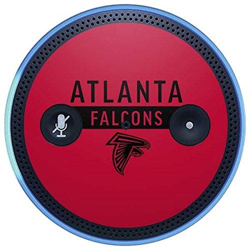 Skinit NFL Atlanta Falcons Amazon Echo Plus Skin - Atlanta Falcons Red Performance Series Design - Ultra Thin, Lightweight Vinyl Decal Protection