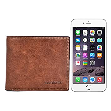Fishagelo Slim Genuine Leather Money Clip Vintage Billfold Wallet for Men Color : Color Coffee, Size : One Size