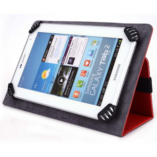 iCraig Mono Core CMP748 7 Inch Tablet Case - UniGrip Edition - RED - By Cush Cases - Fits Model CMP748