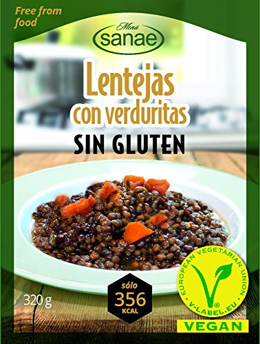 Menú Sanae Lentejas Veganas - 4 Paquetes de 320 gr - Total: 1280 gr
