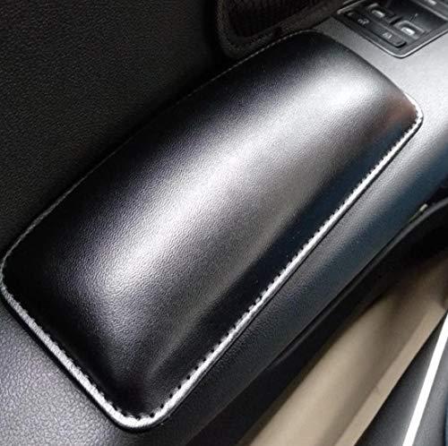 TRUE LINE Automotive Black Soft Leather Car Door Armrest Elbow Cushion Comfort Pillow