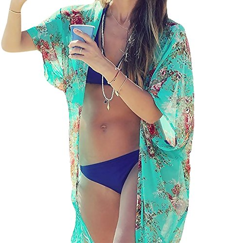 Womens Chiffon Swimwear Cover ups Chalier