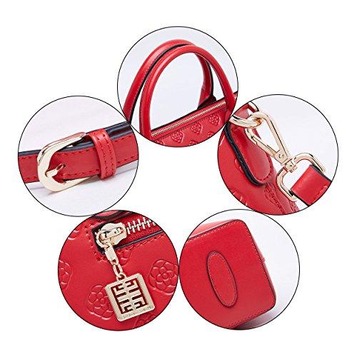 Office a Tote donna Borsa donna Business in Red China Top da da manico a Borse pelle vera Borsa BOYATU tracolla TpZwq01T
