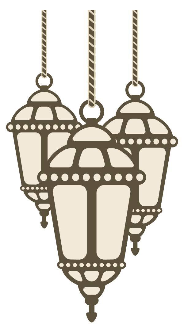 Wandtattoo Orient Wandsticker Orientalisches Lampen Set in edlen Farben orienta
