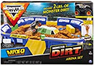 """Monster Jam, Monster Dirt Arena 24"""" Playset with 2lbs of Monster Dirt & Exclusive 1: 64 Scale Die-C"""
