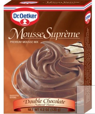 Double Chocolate Mousse (Dr Oetker Double Chocolate Mousse, 4.2-Ounce (Pack of 6))