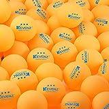 Kevenz 3-star Ping Pong Balls (50 Counts Orange Ping-Pong)