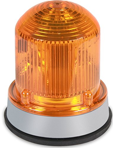 Edwards Signaling 125STRNA120A Flashing Xenon Strobe Beacon, Corrosion Resistant Enclosure, Normal Output 175K Peak Candela, 120V AC, Gray Base, Amber by Edwards-Signaling