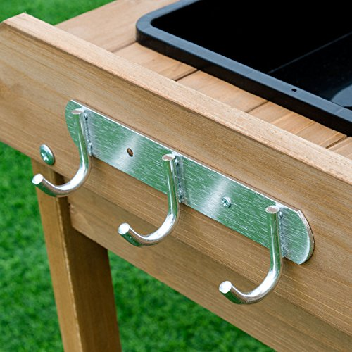 Giantex Potting Bench Table Wood Potting Bench for Garden Plant Lawn Patio Indoor Outdoor Workstation Flower Pot Bench w/Sink Drawer Hooks Open Shelves by Giantex (Image #5)