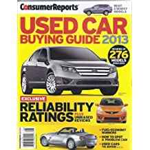 Used Car Buying Guide 2013 Magazine (Consumer Reports Special)