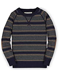 Boys' Long Sleeve Crew Neck Pullover Sweater