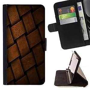 Momo Phone Case / Flip Funda de Cuero Case Cover - Braid cesta Patrón Dise?o de la estructura del material - Sony Xperia Z3 D6603
