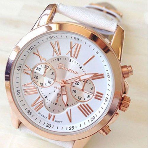 New Women's Fashion Geneva Roman Numerals Faux Leather Analog Quartz Wrist Watch (Burberry Digital compare prices)