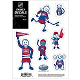 montreal canadiens auto decal - NHL Montreal Canadiens Family Decal Set, Small