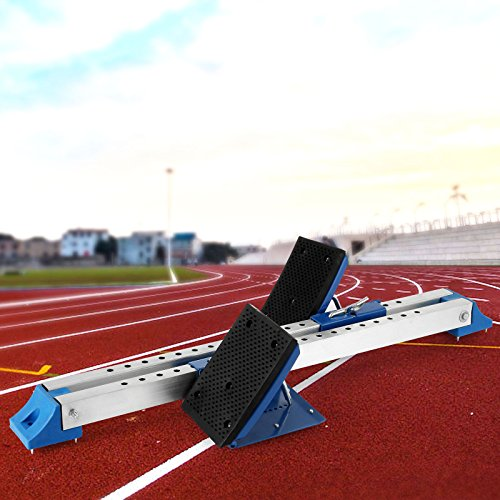 VEVOR Track Field Starting Blocks Athletics Scholastic Starting Block Adjustable Pedals Thick Rubber Pad Starting Blocks Synthetic
