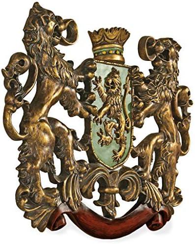 英国壁彫刻 王家のライオン 紋章 彫像 装飾/ Design Toscano Inc Heraldic Royal Lions Coat of Arms Wall Sculpture[並行輸入品]