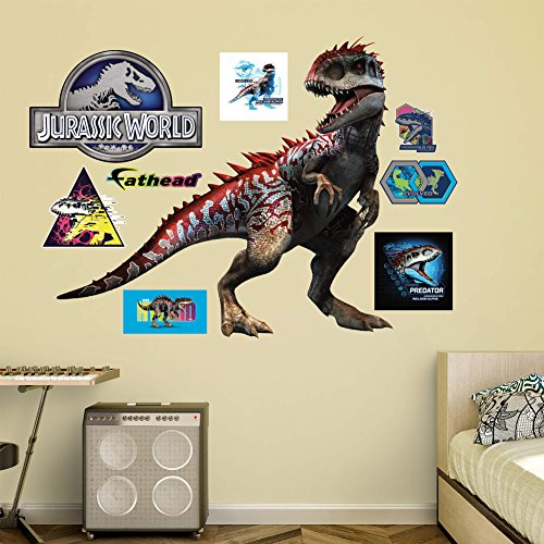 Jurassic World Hybrid Indominus Rex RealBig Wall Decal X In - Jurassic world wall decals