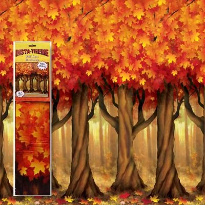 Fall Trees Scene Setter Room Roll by CoolGlow -