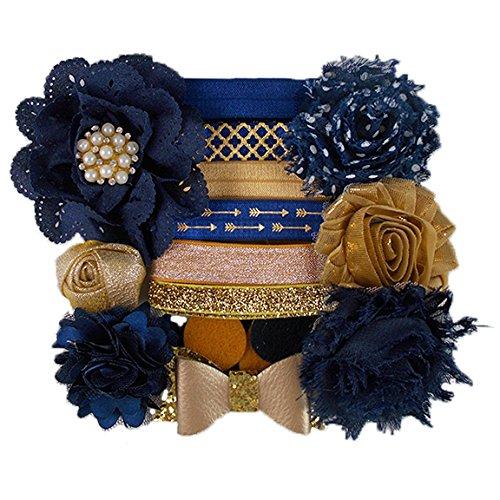 navy-gold-sparkle-mini-diy-headband-kit-makes-6-headbands-baby-shower-headband-station-fashion-headb