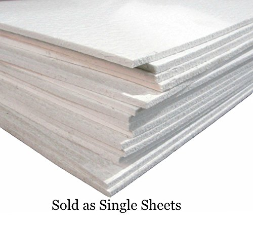 12x12 Semi Soft FiberFrax Fiber Kiln Paper 1/8'' Thick Sheet by Spiral Dance Art Glass
