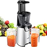 AICOK Juicer Auger Slow Masticating Juicer for Fruit and Vegetable, Vertical Faster Juicer Machine for Fresh High Nutrition Juice with Quiet Efficient Motor, Easy Clean Juice Extractor, Cold Press Review