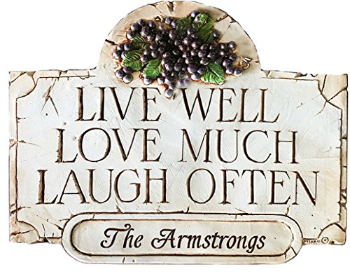 (Live Well Love Much Laugh Often Wall Plaque Personalize with Your)