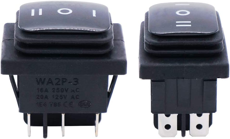 KCD4 Rocker Switch Black DPDT ON//OFF//ON 6 PIN 16A//250VAC 20A//125VAC TB