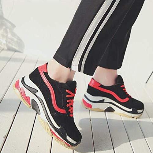 Zapatillas Mujer Red1 Fuxitoggo Casuales Gruesos 39eu Tamaño color Red1 Zapatos Papá De qwwCtEP