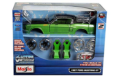 HCK 1967 Ford Mustang GT - Assembly Custom Model Kit Diecast Toy Cars 1:24 Scale - Metal Classic Model Kit
