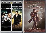 Modern Western 3 DVD Bundle: Wyatt Earp & Appaloosa/ The Assassination of Jesse James by the Coward Robert Ford (Kevin Costner/ Brad Pitt/ Vigo Mortensen)