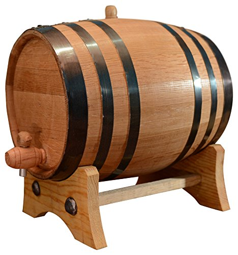 20-Liter American White Oak Aging Barrel | Age your own Tequila, Whiskey, Rum, Bourbon, Wine - 20 Liter or 5.3 Gallons by Sofia's Findings