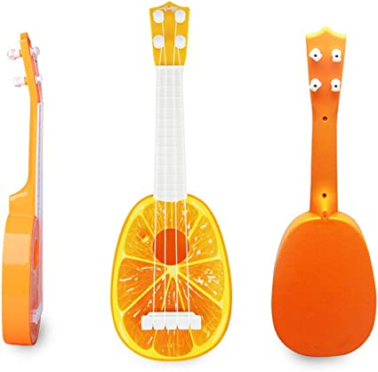 ruiting un pack 4 Strings Mini Ukelele Guitarra Desarrollo Instrumento Musical fruta estilo Niños juguete regalo Naranja Forma Ukelele Educación Música Instrumentos L Tamaño accesorios para instrumentos de música: Amazon.es: Instrumentos musicales