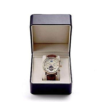 Watch-HLH Caja para coleccionistas de Relojes Caja de Reloj de Cuero sintético Reloj de Pulsera Estuche para Relojes Caja de Regalo con cojín (Color ...