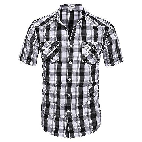 Black White Plaid Flannel Shirt Men Long Sleeve 2017 Spring Fron Short Back Hip Hop Oversized Shirts Justin Bieber